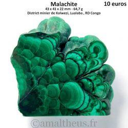 Malachite polie de la RD Congo